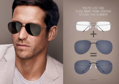 Silhouette Style Shades Man Grey lenses