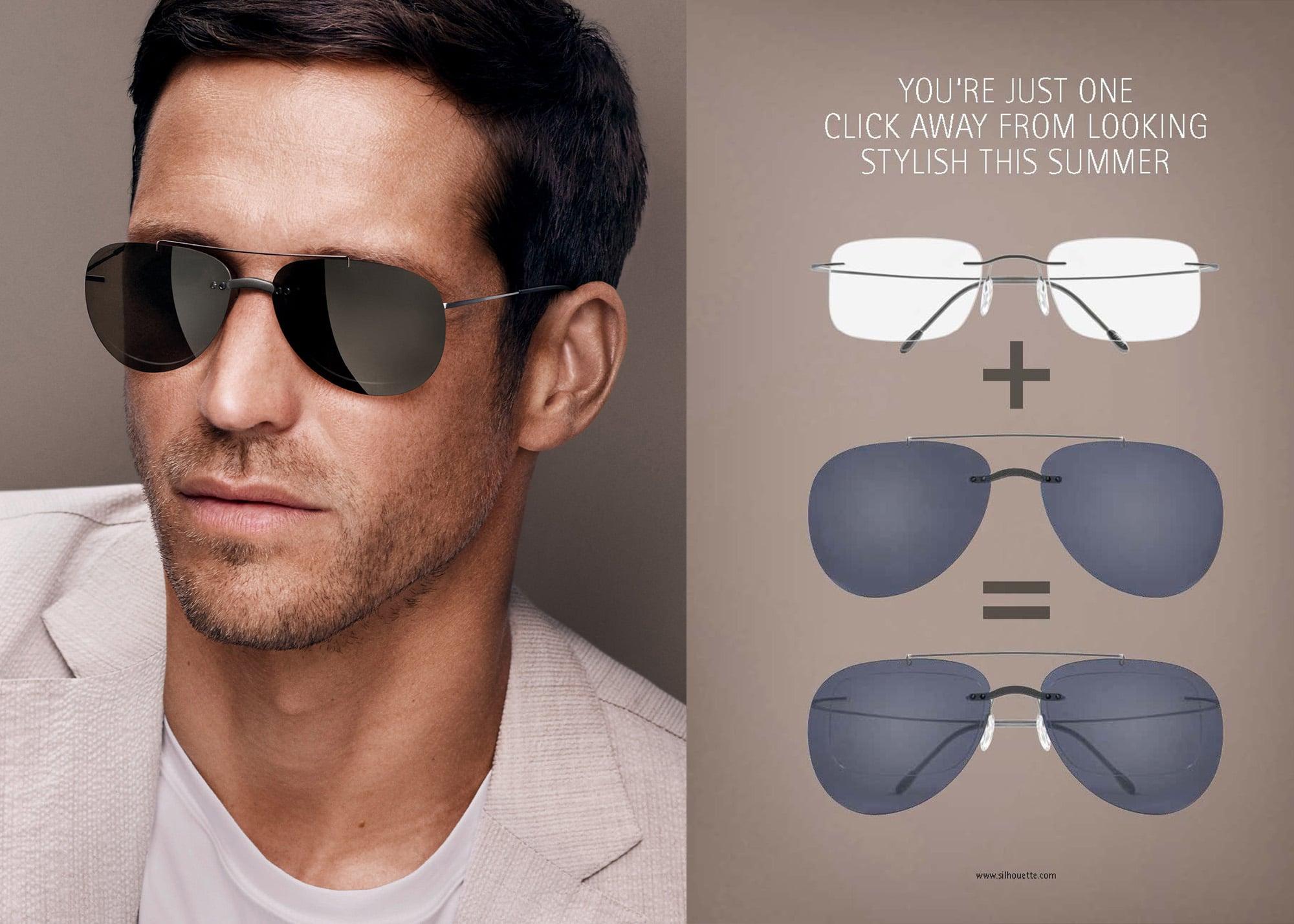 7dd90978c0e Silhouette Style Shades Man Grey lenses